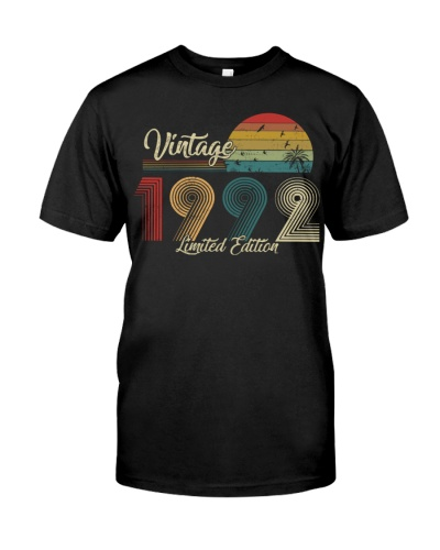 Vintage Sunset Limited Edition 1992 27th Birthday
