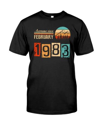 Vintage February 1983 37th Birthday