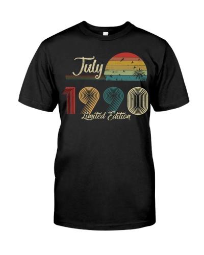Vintage July Sunset Beach 1990