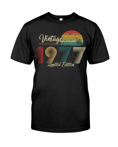 Vintage Sunset Limited Edition 1977 42nd Birthday