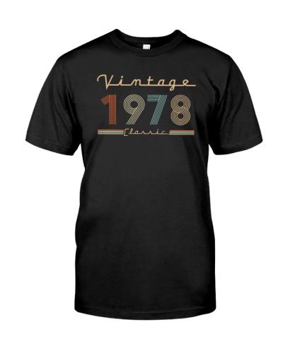 Vintage classic 1978 41st Birthday 439-plus size