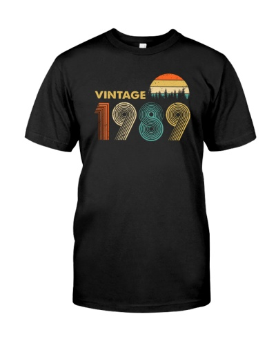 Vintage 1989 Sunset 30th Birthday