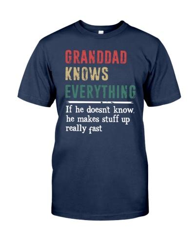 GRANDDAD knows every thing gift tshirt