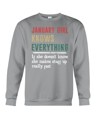 Funny January Girl knows everything-570 for her