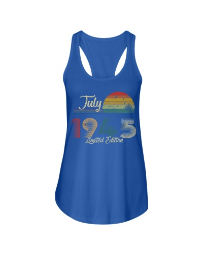 Vintage July Sunset Beach 1945