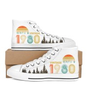Vintage 1980 Sunset 40th Birthday Men's High Top White Shoes tile