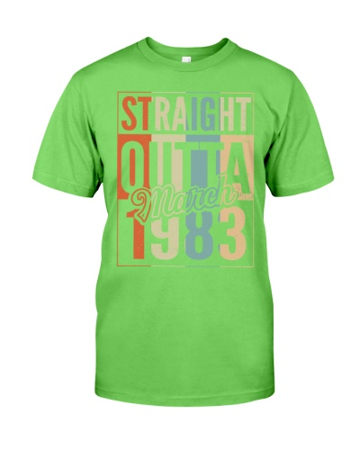 Vintage Straight Outta March 1983 37th Birthday