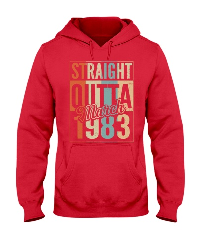 Vintage Straight Outta March 1983 37th Birthday