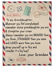 """Family To My Granddaughter Small Fleece Blanket - 30"""" x 40"""" front"""