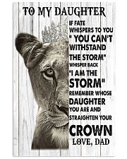 Family To My Daughter Poster 11x17 Poster front