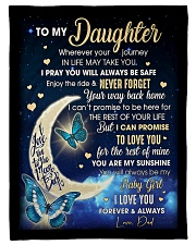 """Family To My Daughter Small Fleece Blanket - 30"""" x 40"""" front"""