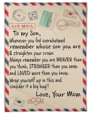 """Family To My Son Small Fleece Blanket - 30"""" x 40"""" front"""