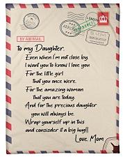 """Family To My Daughter Fleece Blanket Small Fleece Blanket - 30"""" x 40"""" front"""