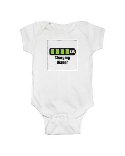 Sweet 'Charging Diaper' Onesie