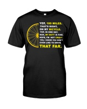 YEP 100 MILES T-Shirt Love Cicyling Premium Fit Mens Tee thumbnail