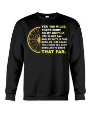 YEP 100 MILES T-Shirt Love Cicyling Crewneck Sweatshirt tile