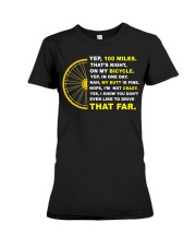 YEP 100 MILES T-Shirt Love Cicyling Premium Fit Ladies Tee thumbnail