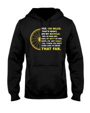 YEP 100 MILES T-Shirt Love Cicyling Hooded Sweatshirt thumbnail