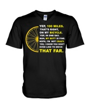 YEP 100 MILES T-Shirt Love Cicyling V-Neck T-Shirt thumbnail