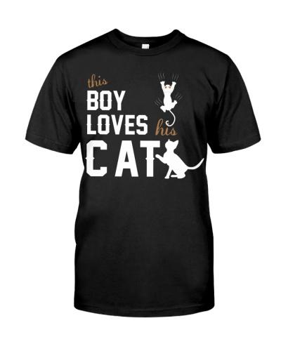 This Boy Loves His Catt Shirt Cat Lover T-shirt Ca