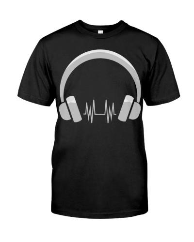 Headphone T Shirt Cool Music Shirts Gift for Music