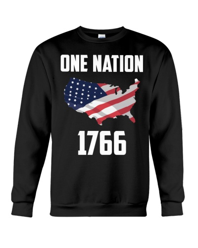 One Nation Flag T-shirt 1776 Independence Day Shir
