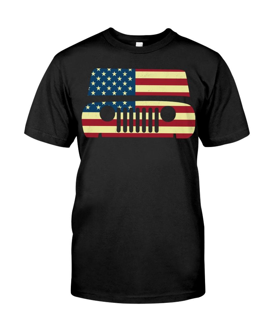 American Flag T-shirt usa t shirt American Flag Gi Classic T-Shirt