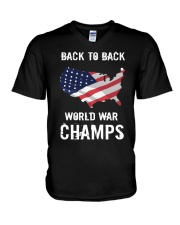 Back-To-Back World War Champs T-Shirt V-Neck T-Shirt thumbnail