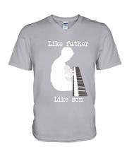 Like father like son piano V-Neck T-Shirt tile