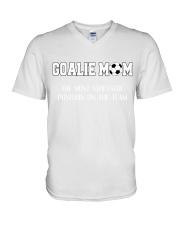 Soccer - Goalie mom V-Neck T-Shirt thumbnail