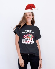 volleyball it's not how tall you are Classic T-Shirt lifestyle-holiday-crewneck-front-1
