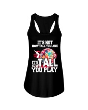 volleyball it's not how tall you are Ladies Flowy Tank thumbnail