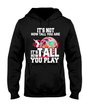 volleyball it's not how tall you are Hooded Sweatshirt thumbnail