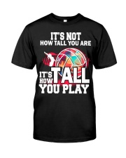 volleyball it's not how tall you are Premium Fit Mens Tee thumbnail