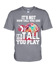 volleyball it's not how tall you are V-Neck T-Shirt thumbnail