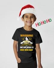 Warning-softballmom Youth T-Shirt lifestyle-holiday-youth-front-1