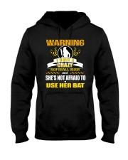 Warning-softballmom Hooded Sweatshirt thumbnail