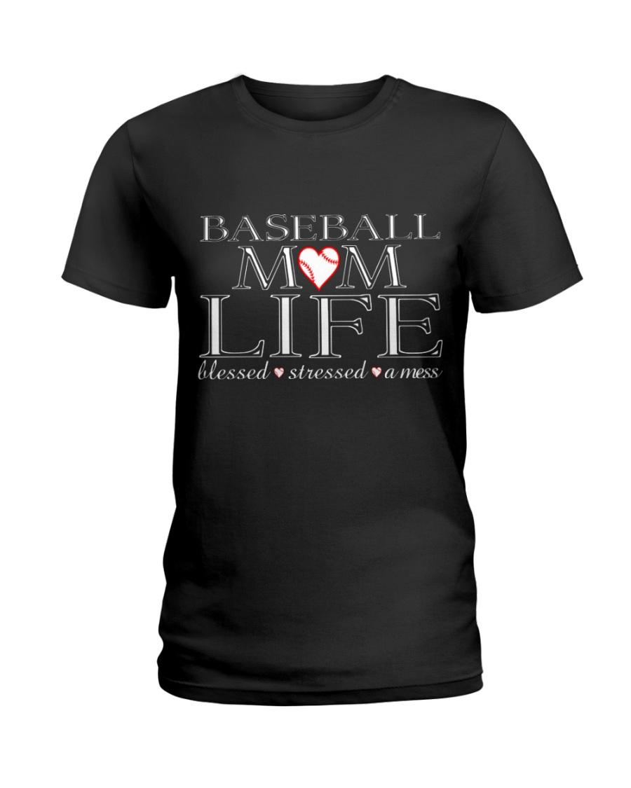 Baseball-momlife Ladies T-Shirt