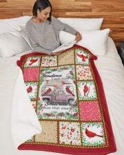 "Bird Sometimes I Just Look Up Large Sherpa Fleece Blanket - 60"" x 80"" aos-sherpa-fleece-blanket-60x80-lifestyle-front-06"