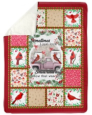 "Bird Sometimes I Just Look Up Large Sherpa Fleece Blanket - 60"" x 80"" front"