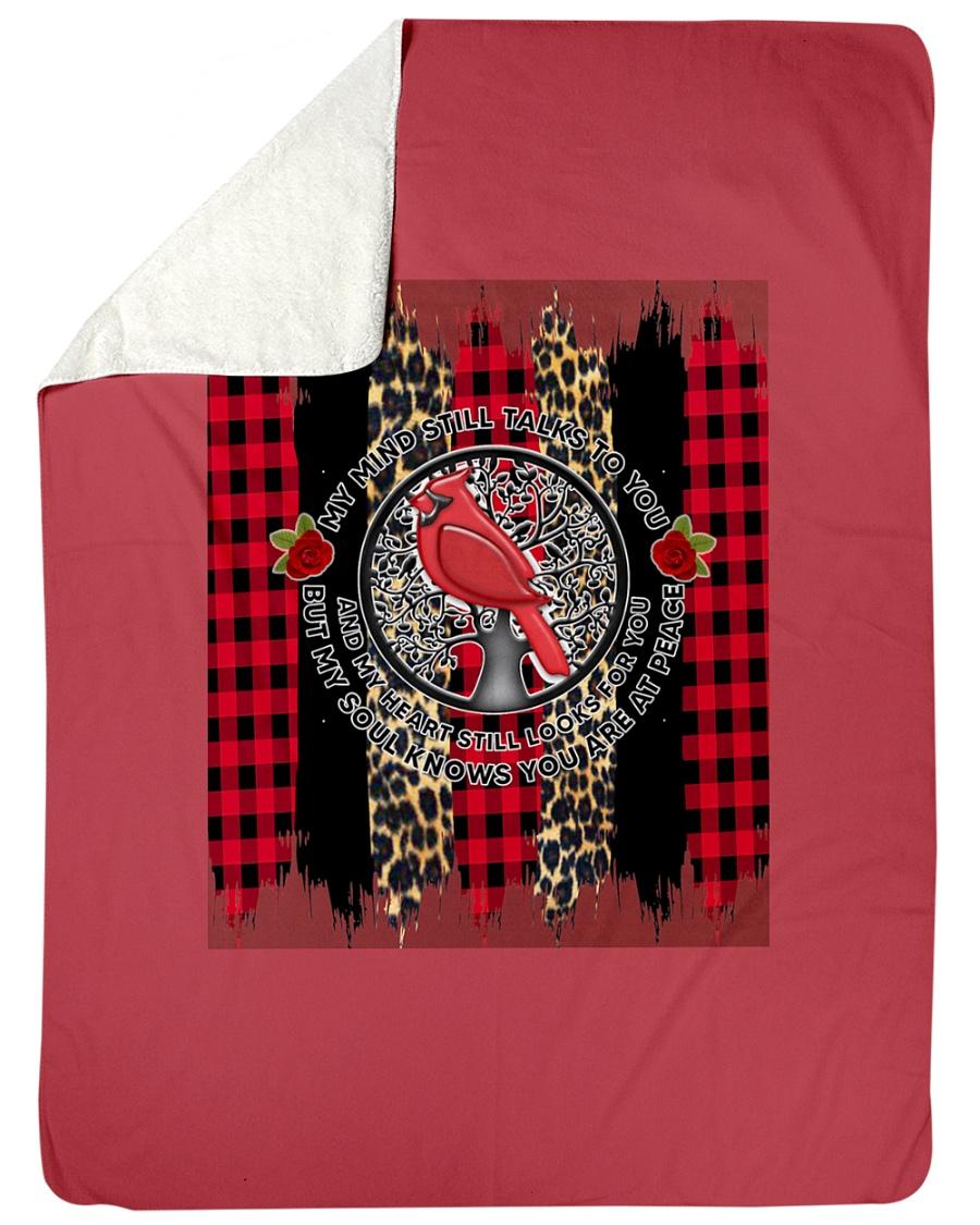 "Bird My Mind Still Talks Rose Christmas A0031 Large Sherpa Fleece Blanket - 60"" x 80"""