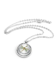 Dragonfly My Mind Still Talks To You RPM002 Metallic Circle Necklace aos-necklace-circle-metallic-lifestyle-03
