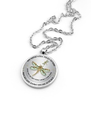 Dragonfly My Mind Still Talks To You RPM002 Metallic Circle Necklace aos-necklace-circle-metallic-lifestyle-05