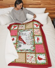 """Bird My Mind Still Talks To You Large Sherpa Fleece Blanket - 60"""" x 80"""" aos-sherpa-fleece-blanket-60x80-lifestyle-front-06"""