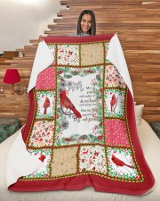 """Bird My Mind Still Talks To You Large Sherpa Fleece Blanket - 60"""" x 80"""" aos-sherpa-fleece-blanket-60x80-lifestyle-front-11"""