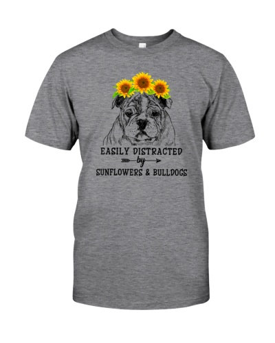 Easily Distracted By Sunflowers And Bulldogs