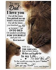To My Dad - Lion Dad 11x17 Poster front