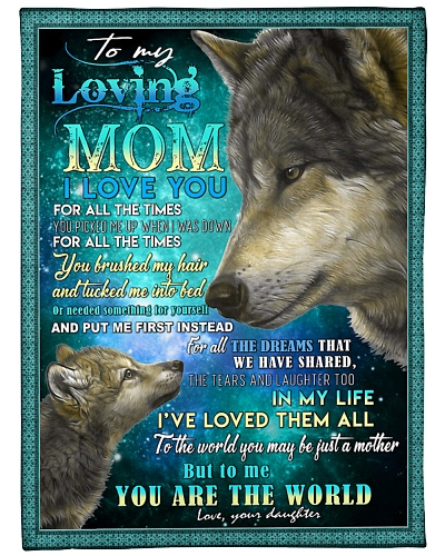 To My Loving Mom Wolves