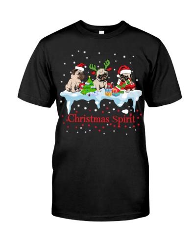 Pug Christmas Spirit
