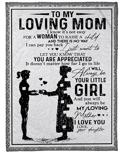 To My Loving Mom Blanket